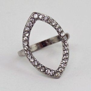 Jewelry - Blingy Statement Ring Silver Tone Marquise size 10